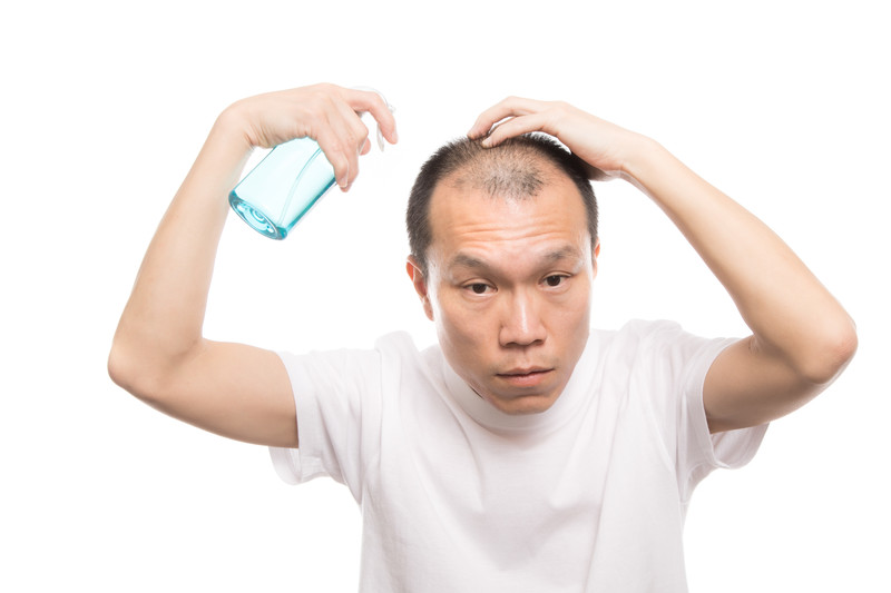 Try using a hair growth agent